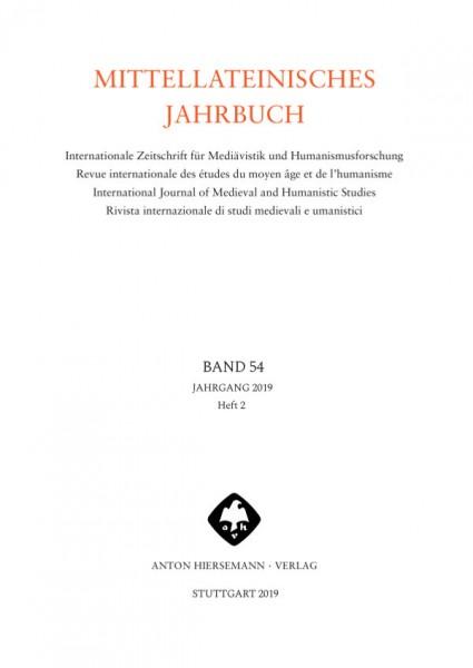 Mittellateinisches Jahrbuch Band 54 Heft 2